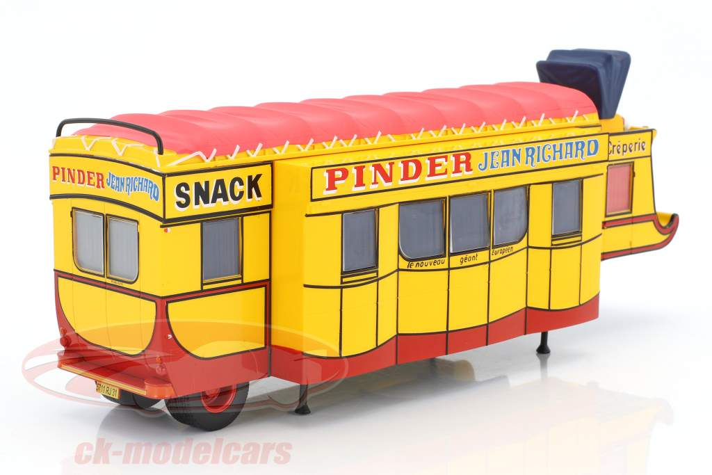 semi-remorque Creperie / Snack Bar Pinder cirque jaune / rouge 1:43 Direkt Collections