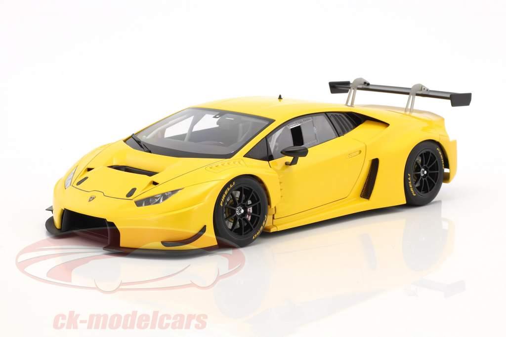 Lamborghini Huracan GT3 Baujahr 2015 gelb 1:18 AUTOart