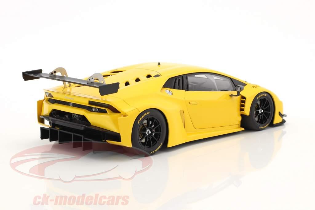 Lamborghini Huracan GT3 ano de construção 2015 amarelo 1:18 AUTOart