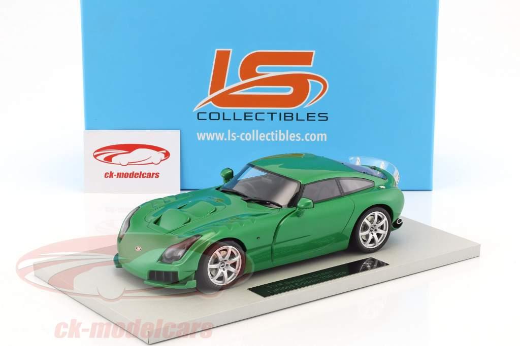 TVR Sagaris year 2005 green metallic 1:18 LS Collectibles