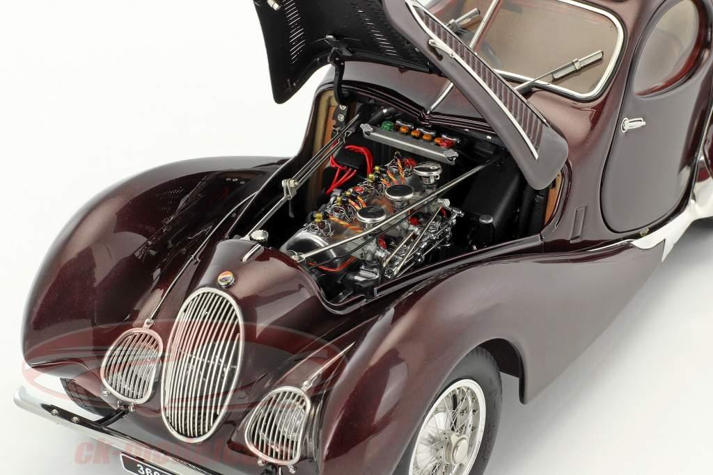 Talbot Lago Coupe T150 C-SS Figoni & Falaschi year 1937-39 bordeaux red 1:18 CMC