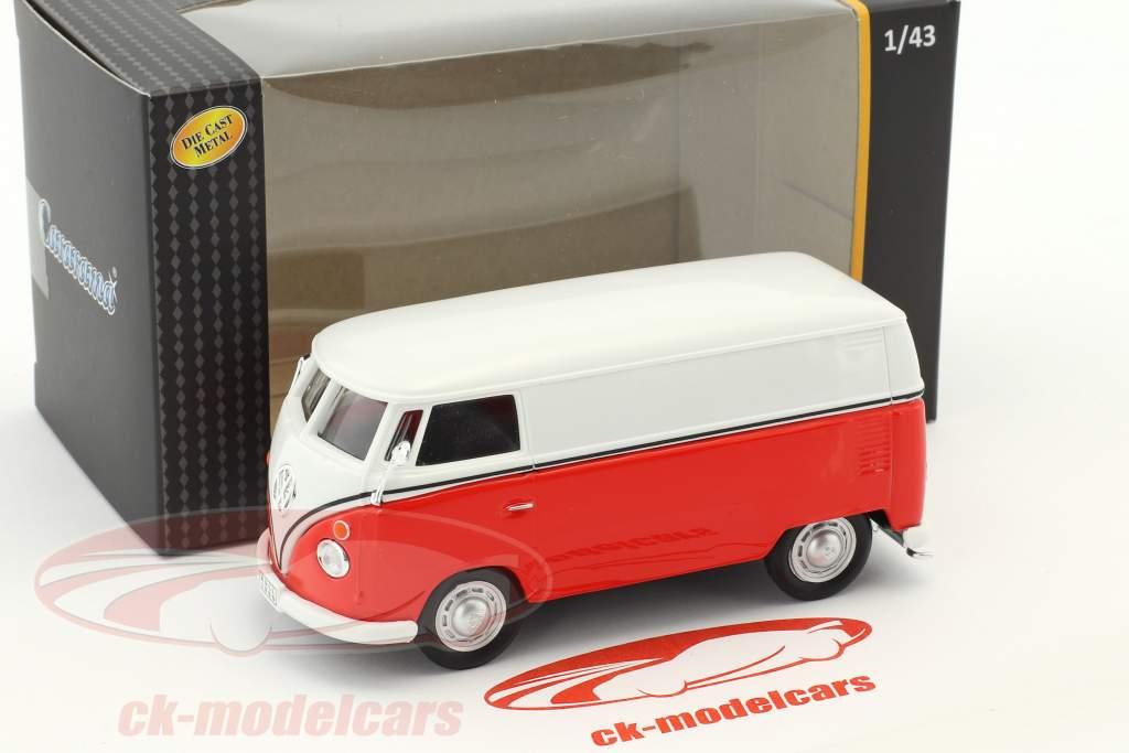 Volkswagen VW T1 transporter white / red 1:43 Cararama
