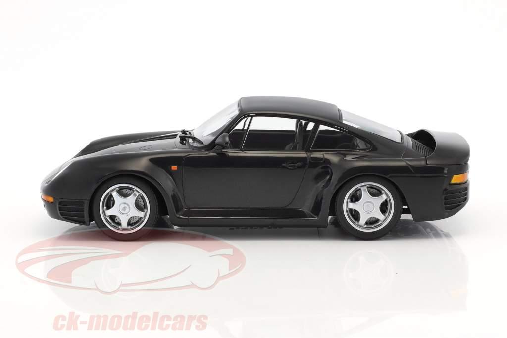 Porsche 959 anno di costruzione 1987 scuro grigio metallico 1:18 Minichamps