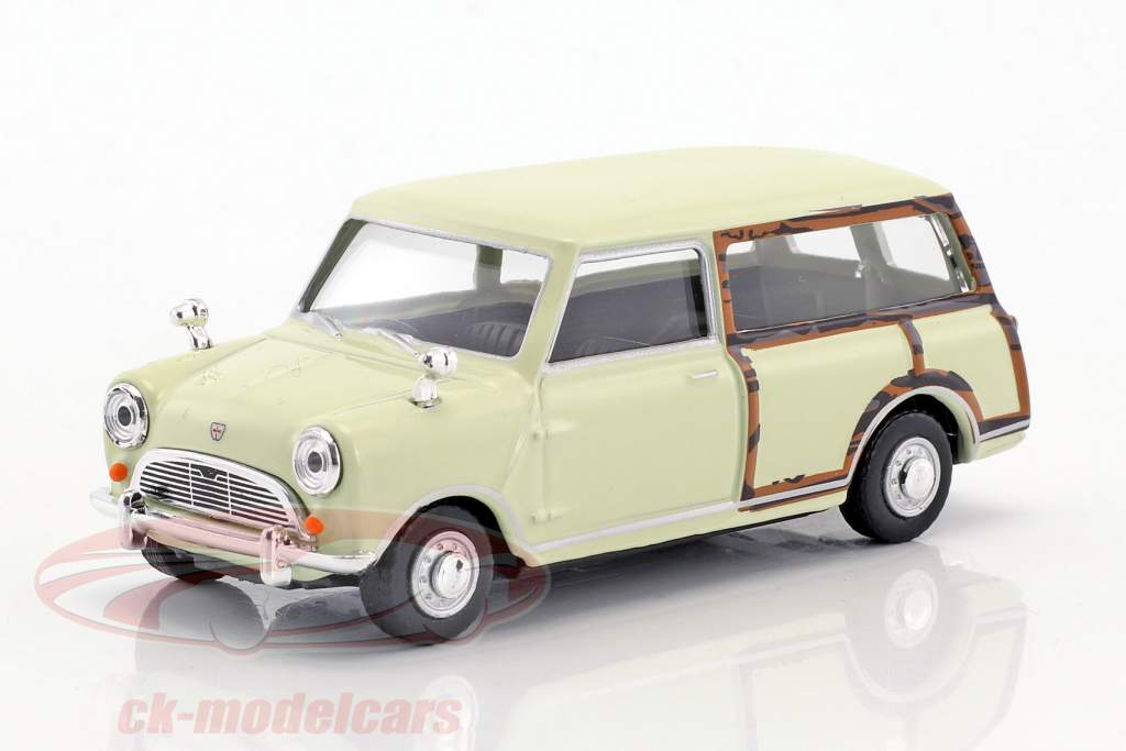 Mini Traveller Van creamy white / wood optics 1:43 Cararama