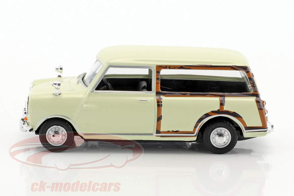 Mini Traveller Van blanc crème / optique bois 1:43 Cararama