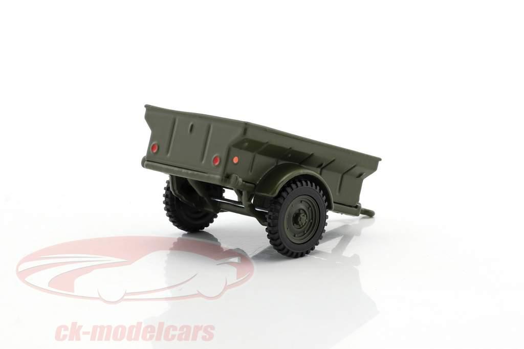 Div 1/4 Ton USA Militär Anhänger 1:43 Cararama