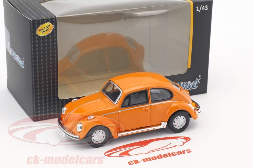 Volkswagen VW Beetle orange 1:43 Cararama