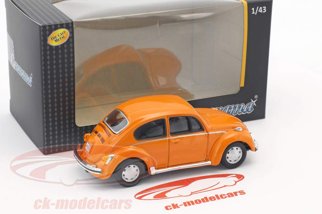 Volkswagen VW Beetle laranja 1:43 Cararama