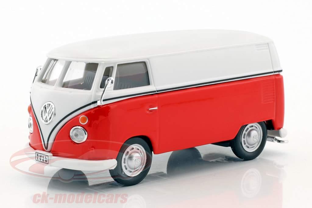 Volkswagen VW T1 trasportatore bianco / rosso 1:43 Cararama
