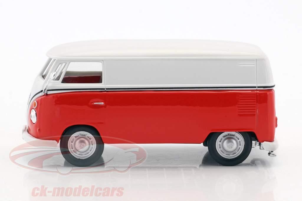 Volkswagen VW T1 Transporter weiß / rot 1:43 Cararama