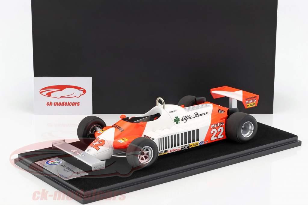 Mario Andretti Alfa Romeo 179C #22 allemand GP formule 1 1981 avec vitrine 1:18 LookSmart