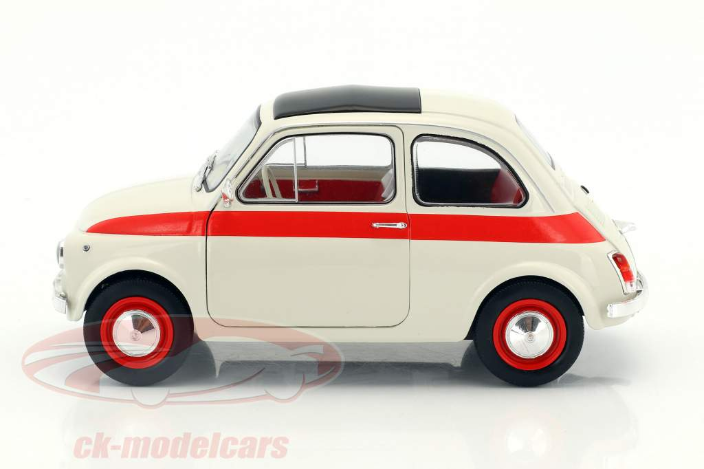 Fiat 500 L anno di costruzione 1960 crema / rosso 1:18 Solido