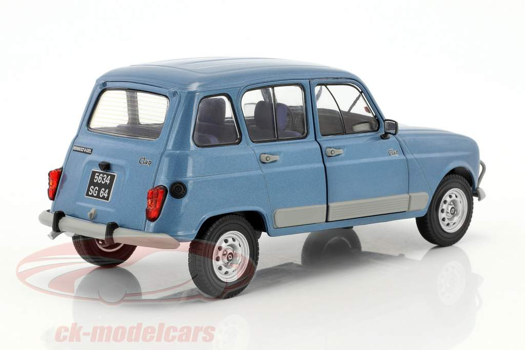 Renault R4 GTL year 1984 blue 1:18 Solido