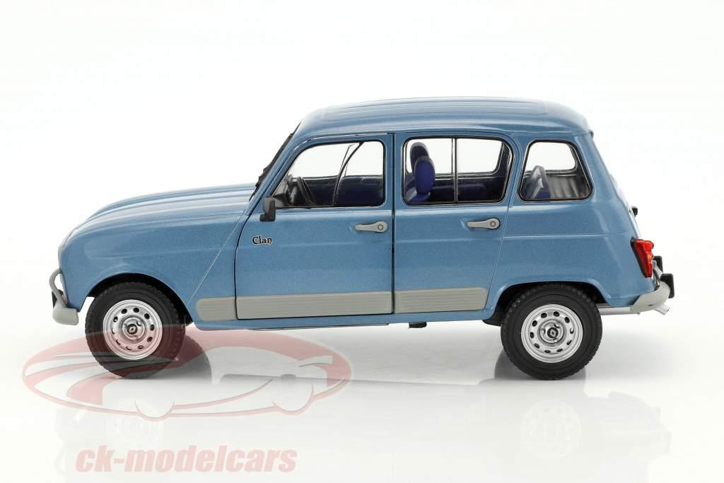 Renault R4 GTL année de construction 1984 bleu 1:18 Solido