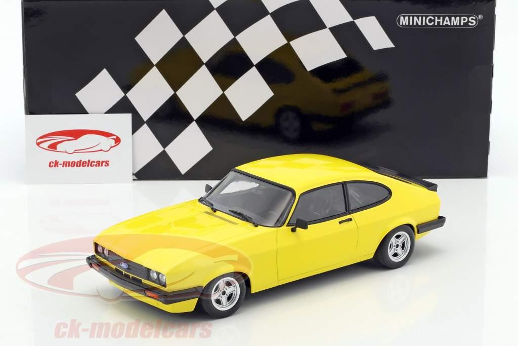 Ford Capri 3.0 Baujahr 1978 gelb 1:18 Minichamps