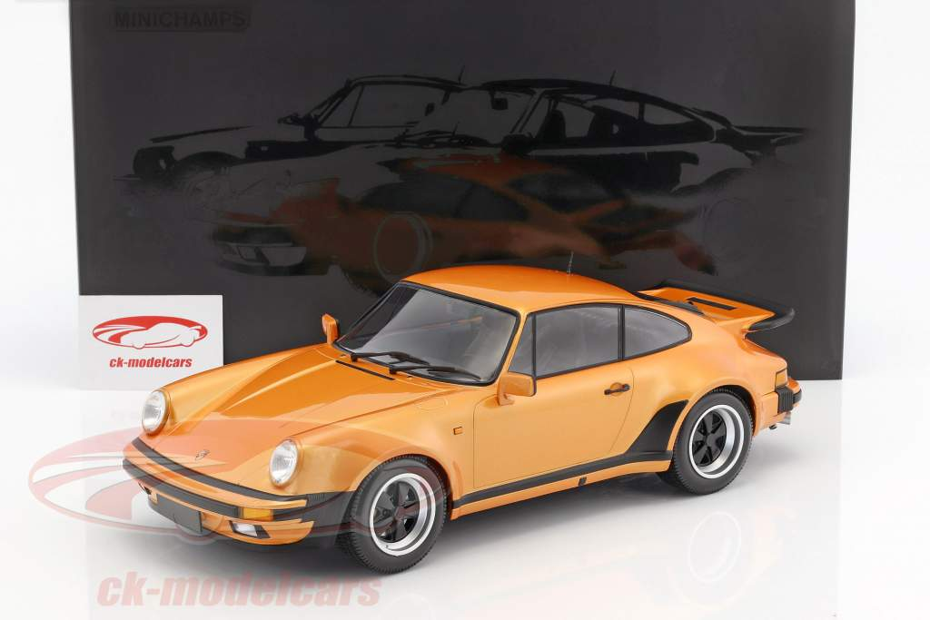Porsche 911 (930) Turbo anno di costruzione 1977 arancione metallico 1:12 Minichamps