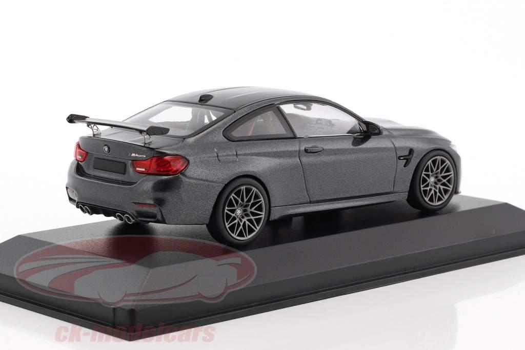 BMW M4 GTS anno di costruzione 2016 grigio minerale metallico con grigio ruote 1:43 Minichamps