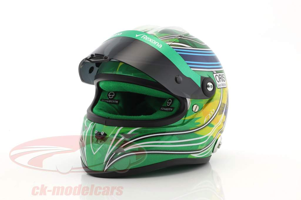 Felipe Massa Williams FW40 Abu Dhabi GP formula 1 2017 finale gara casco 1:2 Schuberth
