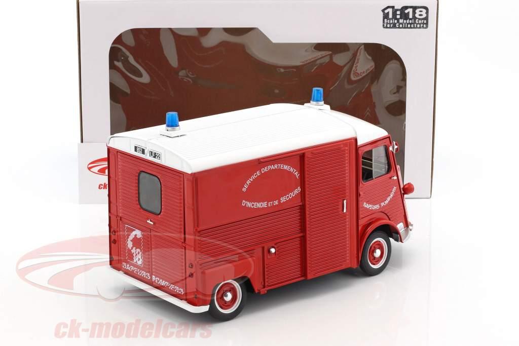 Citroen Type HY pompiers année de construction 1969 rouge / blanc 1:18 Solido