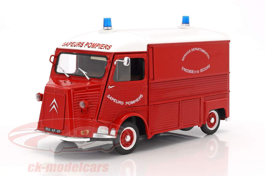Citroen Type HY fire Department year 1969 red / white 1:18 Solido