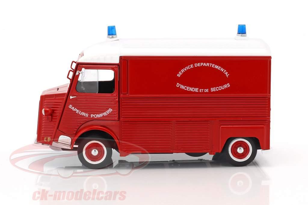 Citroen Type HY vigili del fuoco anno di costruzione 1969 rosso / bianco 1:18 Solido