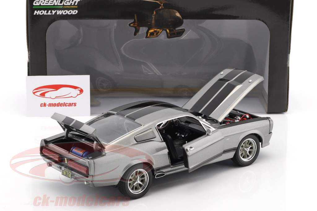 Ford Shelby Mustang Eleanor Año 1967 gris metálico / negro 1:18 Greenlight