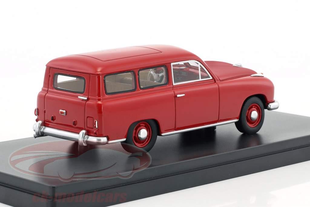 Borgward Hansa 1500 station wagon year 1951 red 1:43 Neo