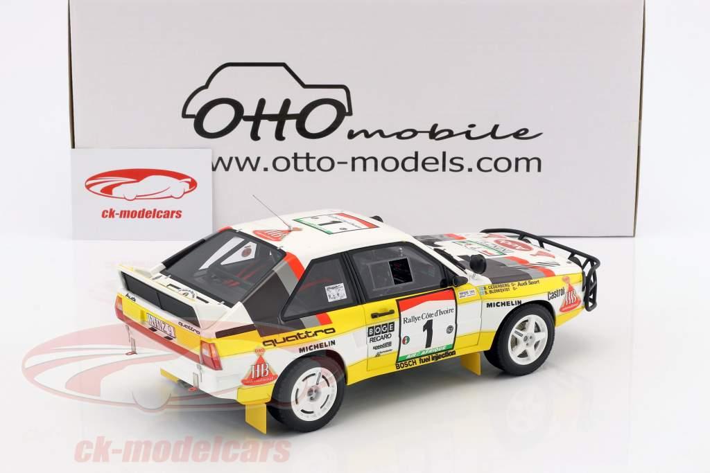 Audi Quattro Sport Gr. B #1 Winner Rallye Ivory Coast 1984 Blomqvist, Cederberg 1:18 OttOmobile