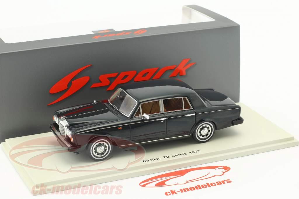 Bentley T2 Series année de construction 1977 vert foncé 1:43 Spark