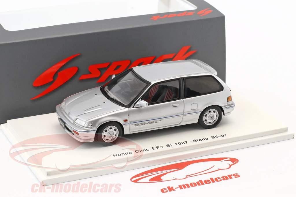 Honda Civic EF3 Si année de construction 1987 argent 1:43 Spark
