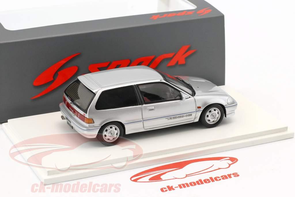 Honda Civic EF3 Si Baujahr 1987 silber 1:43 Spark