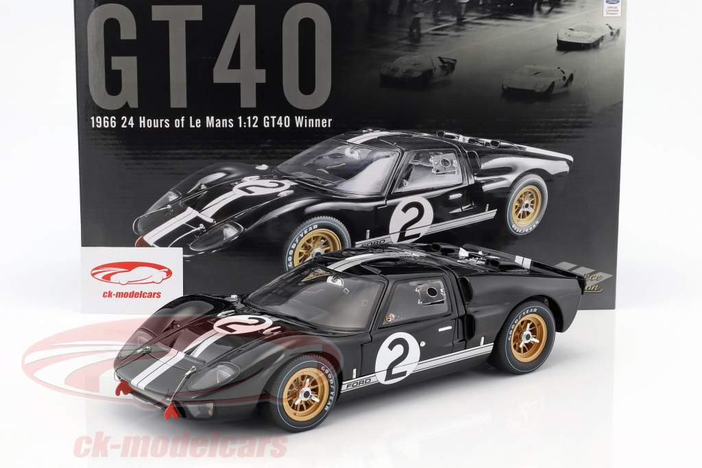 Ford GT40 MK II #2 vincitore 24h LeMans 1966 McLaren, Amon 1:12 GMP