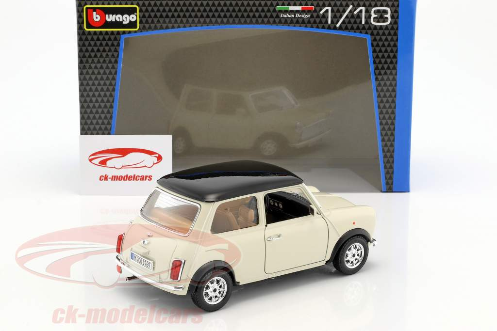 Mini Cooper Baujahr 1969 creme 1:18 Bburago