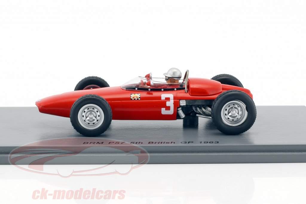 Lorenzo Bandini BRM P57 #3 5th Großbritannien GP Formel 1 1963 1:43 Spark