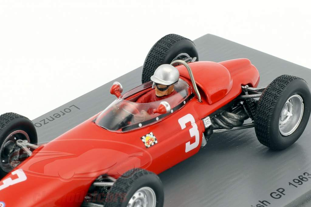 Lorenzo Bandini BRM P57 #3 5. britisk GP formel 1 1963 1:43 Spark
