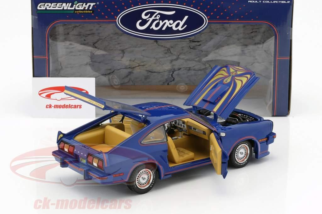 Ford Mustang II King Cobra anno di costruzione 1978 blu / rosso / oro 1:18 Greenlight