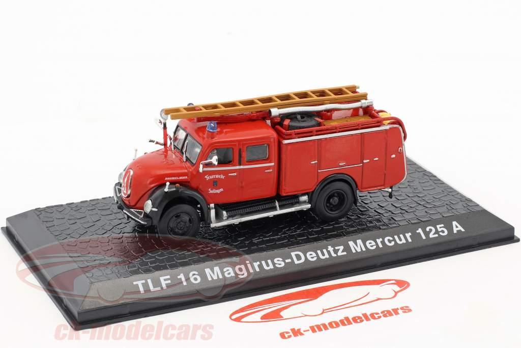 Magirus Deutz Mercur 125A TLF 16 bombeiros Solingen 1:72 Altaya