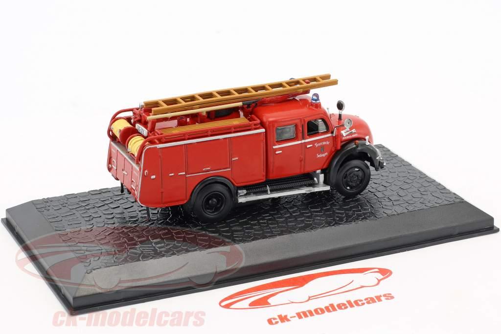 Magirus Deutz Mercur 125A TLF 16 departamento de bomberos Solingen 1:72 Altaya