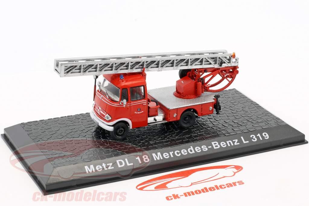Mercedes-Benz L319 Metz DL18 brandvæsen 1:72 Altaya