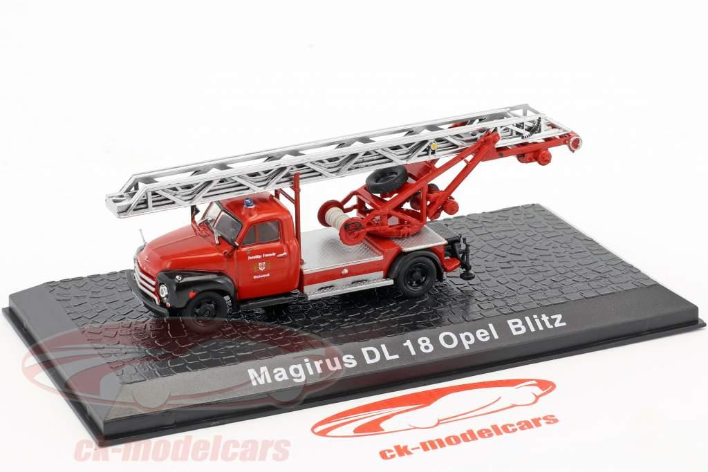 Magirus DL 18 Opel Blitz Feuerwehr Wiedenbrück 1:72 Altaya