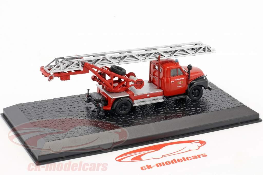 Magirus DL 18 Opel Blitz brandweer Wiedenbrück 1:72 Altaya