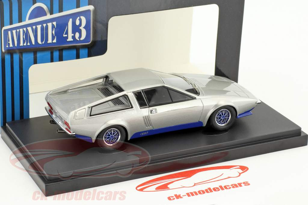 Audi 100 S Coupe Speciale Frua year 1974 silver / blue 1:43 AutoCult