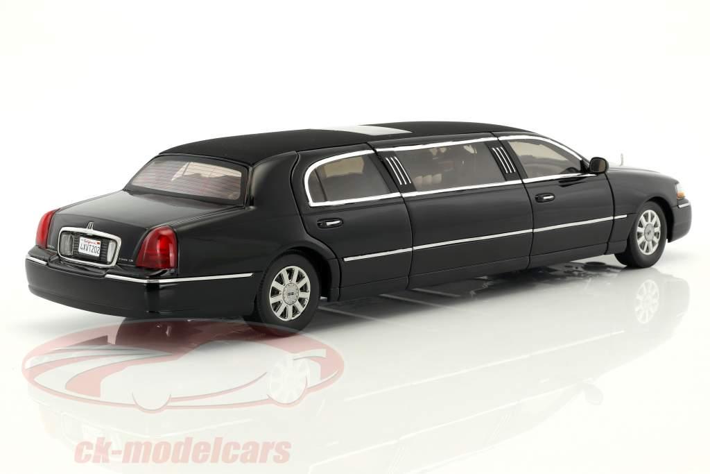 Lincoln Town Car Limousine anno di costruzione 2003 nero 1:18 SunStar