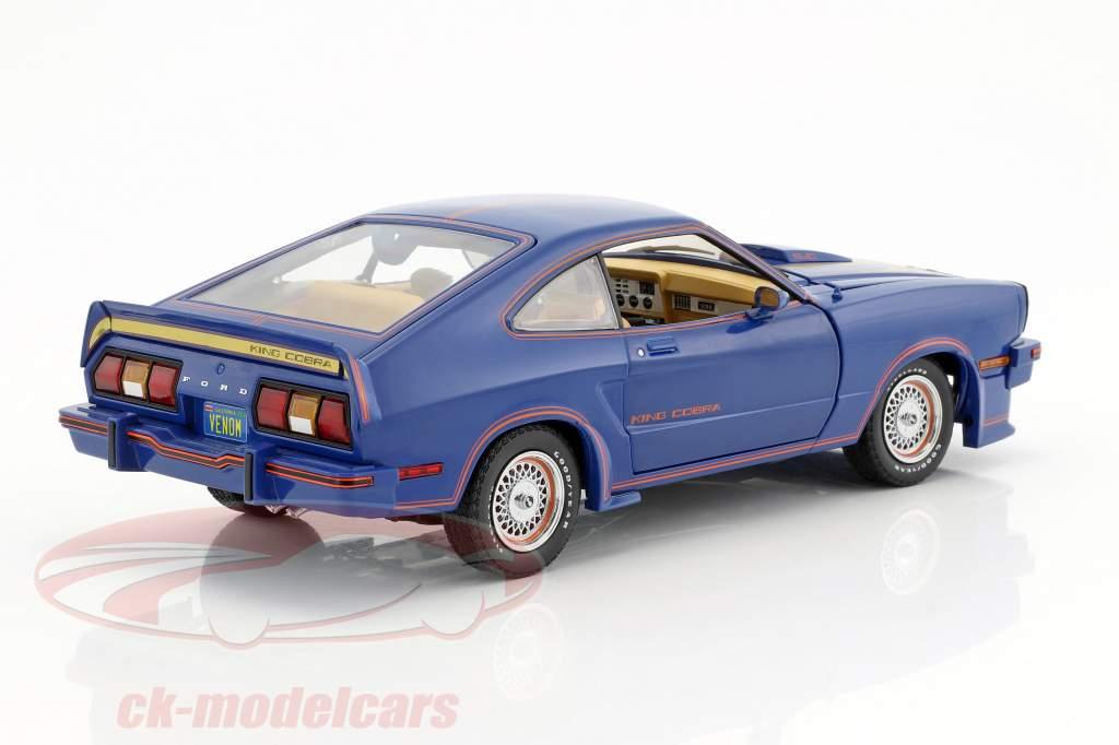 Ford Mustang II King Cobra Baujahr 1978 blau / rot / gold 1:18 Greenlight