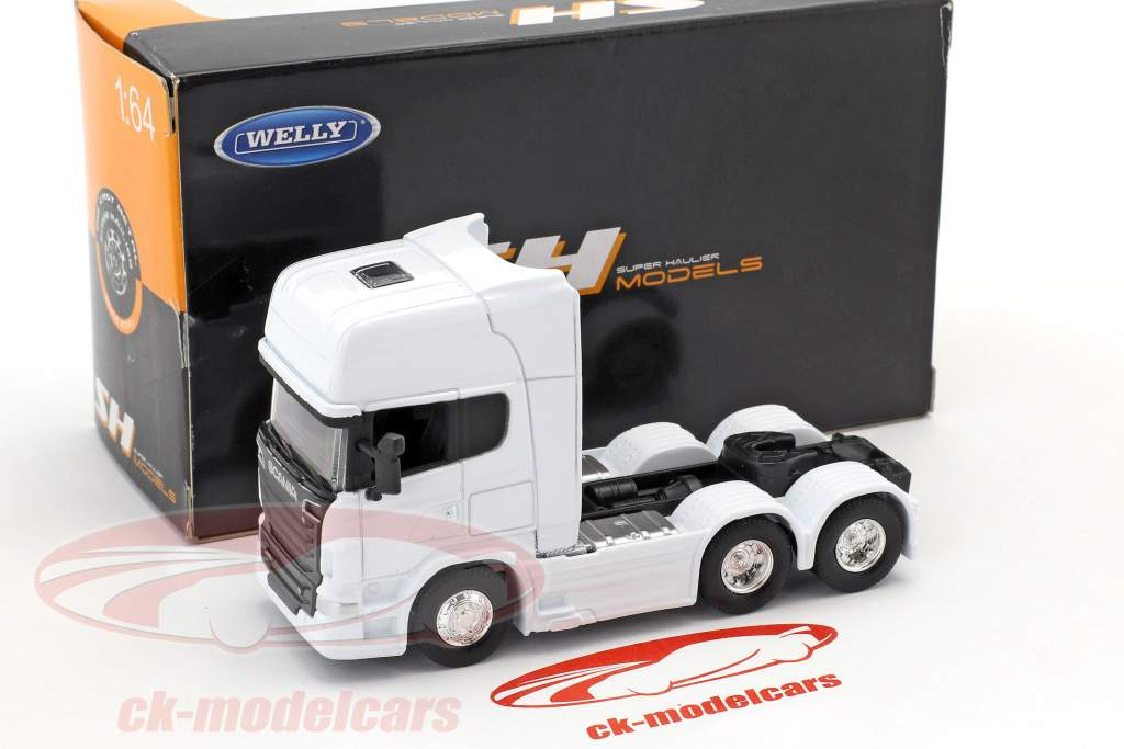 Scania V8 R730 (6x4) blanc 1:64 Welly