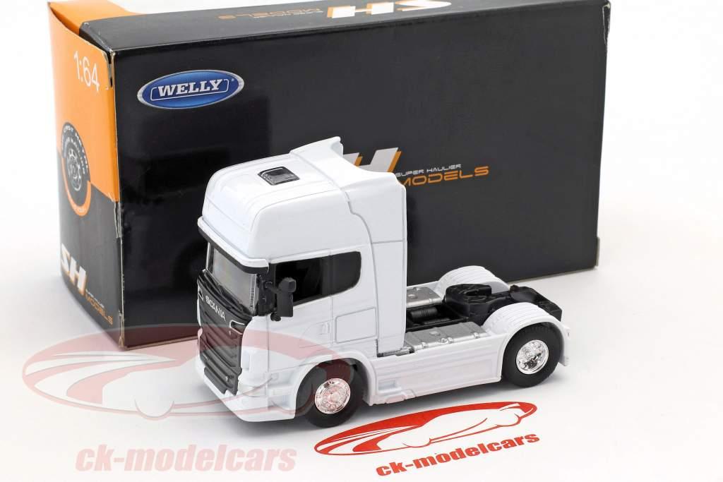 Scania V8 R730 (4x2) white 1:64 Welly