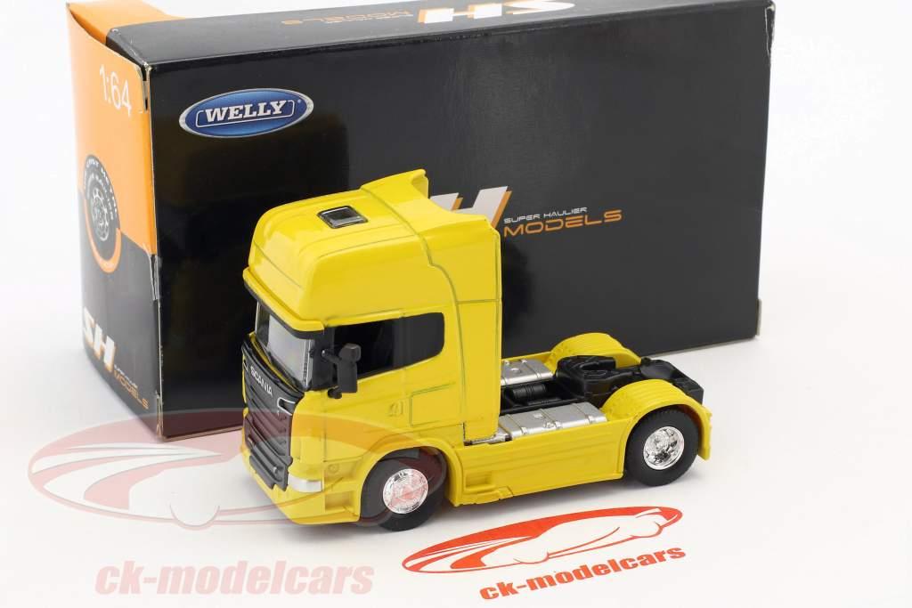 Scania V8 R730 (4x2) gelb 1:64 Welly