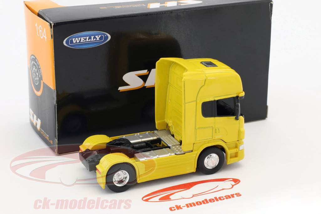 Scania V8 R730 (4x2) yellow 1:64 Welly