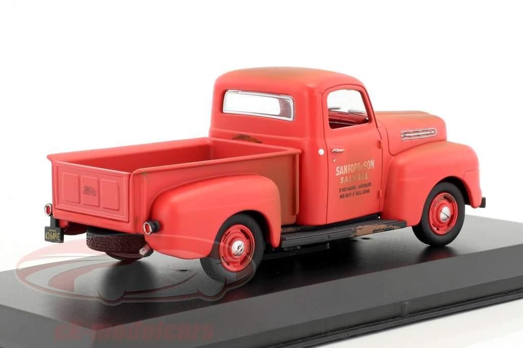 Ford F-1 Pick-Up année de construction 1952 Série TV Sanford & Son (1972-77) rouge 1:43 Greenlight