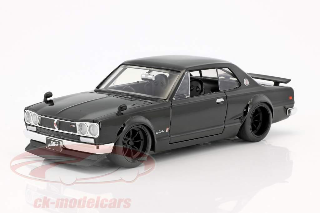 Brian's Nissan Skyline 2000 GTR フィルム Fast & Furious Five (2011) 黒 1:24 Jada Toys